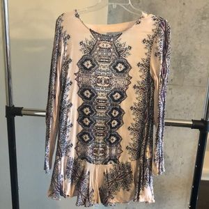 Free People Tunic Dress with Open Back and Pockets